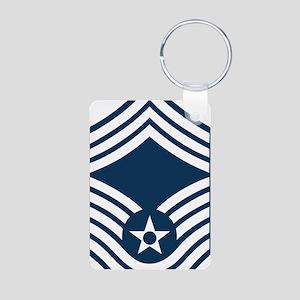 USAF-CMSgt-Blue Aluminum Photo Keychain