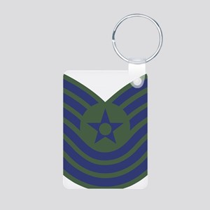 USAF-MSgt-Old-Green Aluminum Photo Keychain