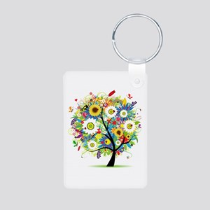 summer tree Aluminum Photo Keychain