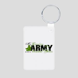 Grandson Combat Boots - ARMY Aluminum Photo Keycha