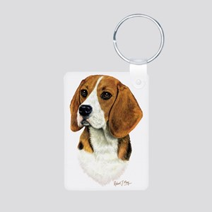 Beagle Head 1 Aluminum Photo Keychain
