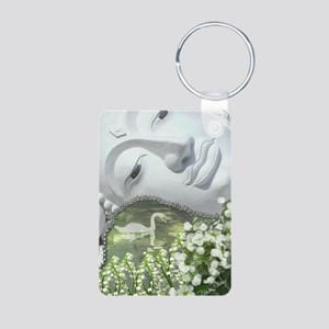 In the Garden - Quan Yin F Aluminum Photo Keychain