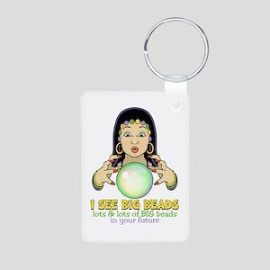 Mardi Gras Gypsy Aluminum Photo Keychain