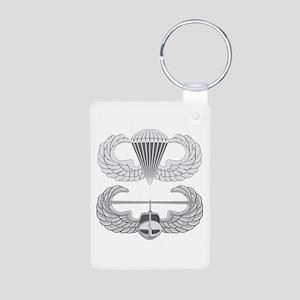 Airborne and Air Assault Aluminum Photo Keychain