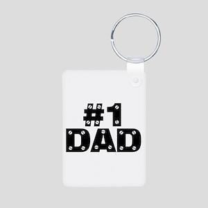 #1 Dad Aluminum Photo Keychain