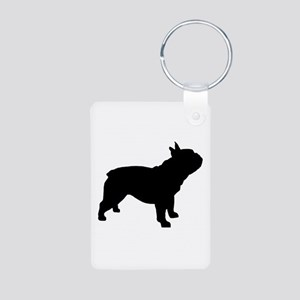 French Bulldog Aluminum Photo Keychain
