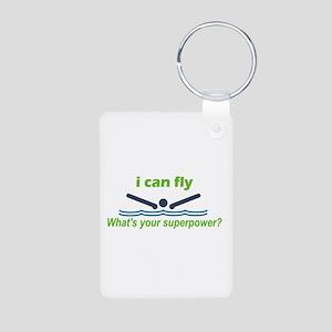 I Can Fly Aluminum Photo Keychain