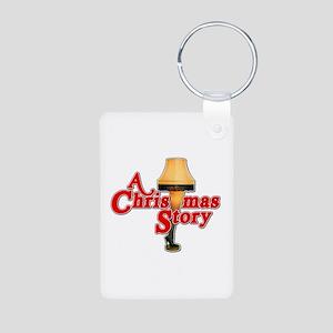 A Christmas Story Movie Lamp Aluminum Photo Keycha