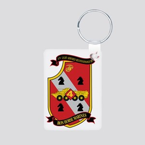4th LAR Battalion Aluminum Photo Keychain