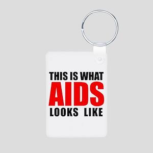 What AIDS looks like Aluminum Photo Keychain