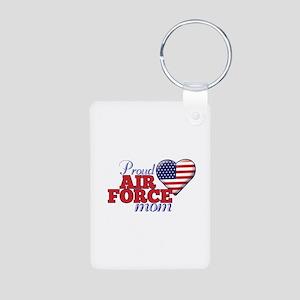 Proud Air Force Mom - Aluminum Photo Keychain