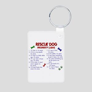 Rescue Dog Property Laws 2 Aluminum Photo Keychain