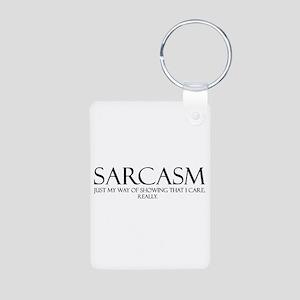 Sarcasm Aluminum Photo Keychain
