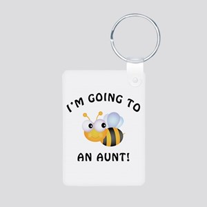 Going To Bee An Aunt Aluminum Photo Keychain