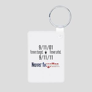 9-11 / United Never Forgotten Aluminum Photo Keych