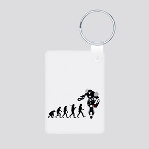 Robot Evolution 1 Aluminum Photo Keychain