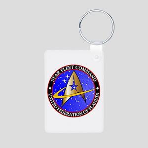 Star Fleet Command Aluminum Photo Keychain