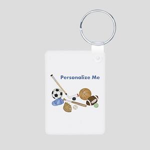 Personalized Sports Aluminum Photo Keychain