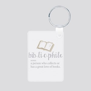 Bibliophile - Aluminum Photo Keychain