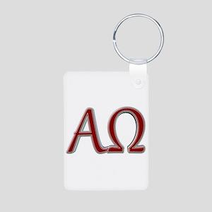 Alpha & Omega Aluminum Photo Keychain