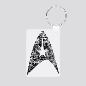 Vintage Star Trek Insignia Aluminum Photo Keychain