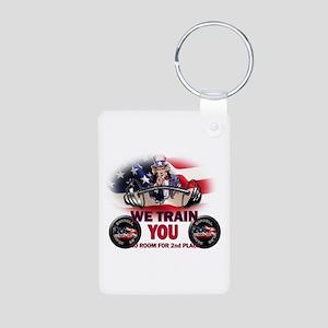 USA Trainer Aluminum Photo Keychain