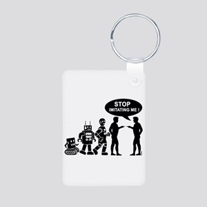 Robot evolution Aluminum Photo Keychain