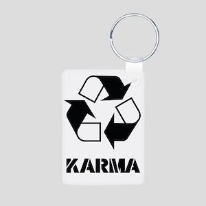 Karma - what goes around c Aluminum Photo Keychain