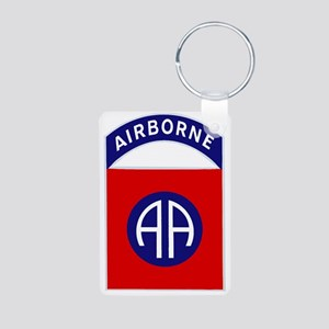 82nd Airborne Aluminum Photo Keychain