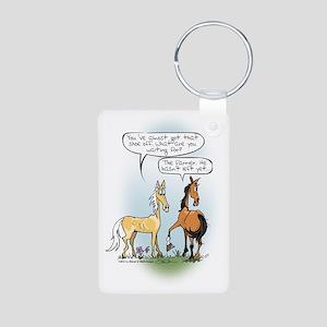 Horse Health - Shoe Toss Aluminum Photo Keychain