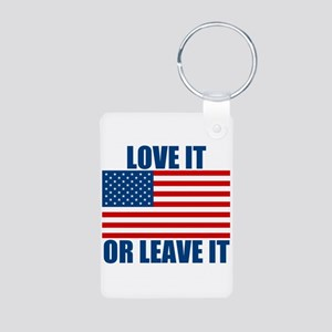 Love it or Leave it Aluminum Photo Keychain