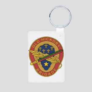 30th Armored Bde Aluminum Photo Keychain