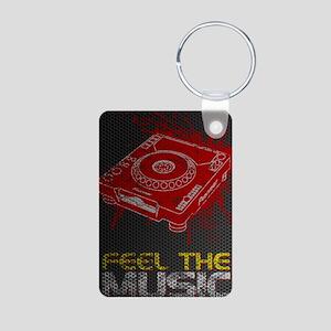 Feel The Music Pioneer CDJ Aluminum Photo Keychain