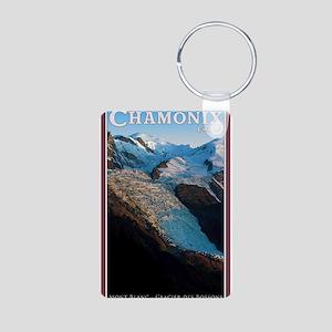Glacier des Bossons Aluminum Photo Keychain