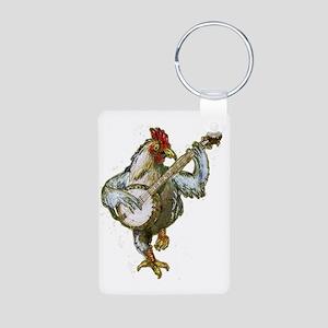 Banjo Chicken Aluminum Photo Keychain