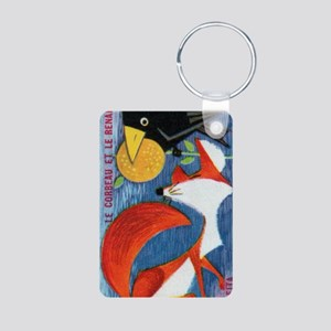The Crow and The Fox Frenc Aluminum Photo Keychain