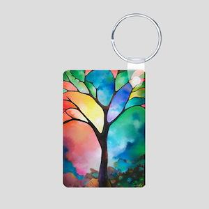 Tree of Light by Sally Tra Aluminum Photo Keychain