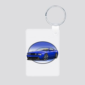 GT Stang Blue Keychains