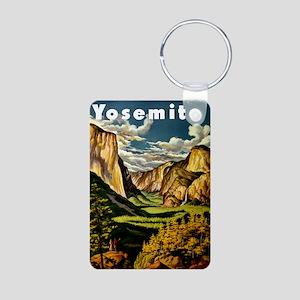 Vintage Yosemite Travel Aluminum Photo Keychain