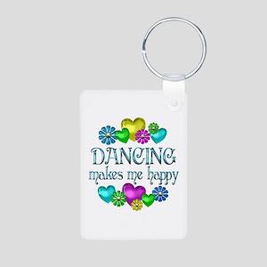Dancing Happiness Aluminum Photo Keychain