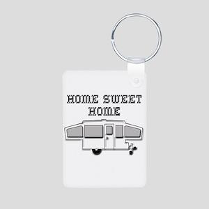 Home Sweet Home Pop Up Aluminum Photo Keychain