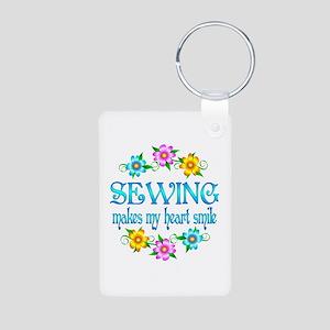 Sewing Smiles Aluminum Photo Keychain