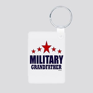Military Grandfather Aluminum Photo Keychain