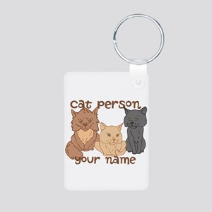Personalized Cat Person Keychains
