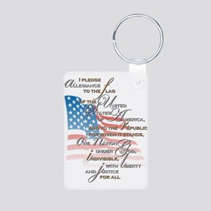 US Pledge - Aluminum Photo Keychain