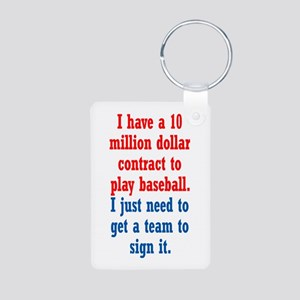 Baseball Contract Aluminum Photo Keychain