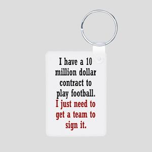 Football Contract Aluminum Photo Keychain