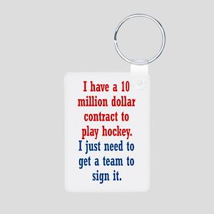 Hockey Contract Aluminum Photo Keychain