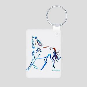 Horse of Many Colors Aluminum Photo Keychain