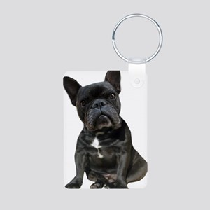 French Bulldog Puppy Portr Aluminum Photo Keychain